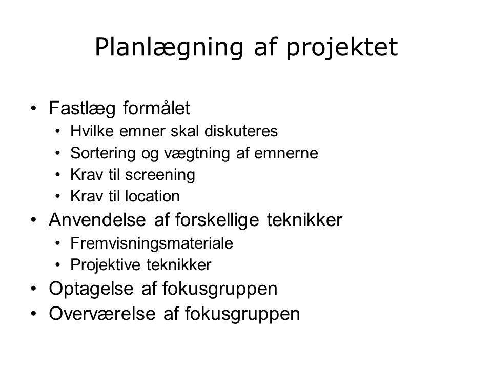 Planlægning af projektet