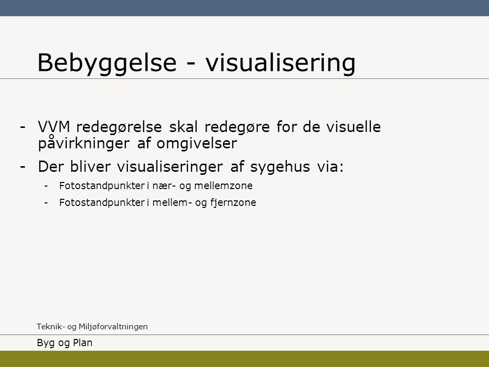 Bebyggelse - visualisering