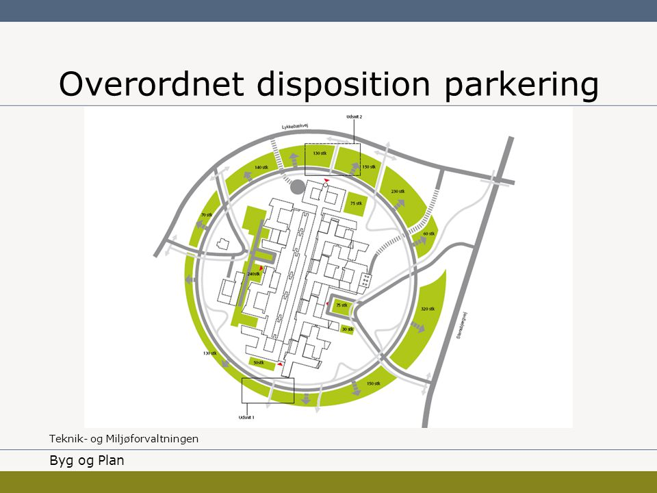Overordnet disposition parkering