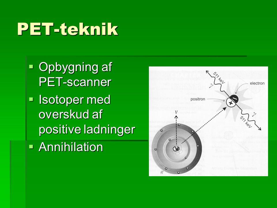 PET-teknik Opbygning af PET-scanner