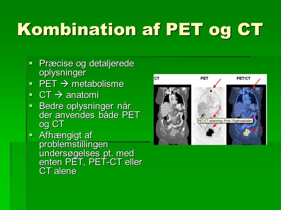 Kombination af PET og CT