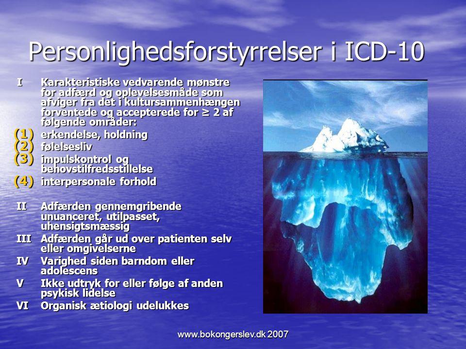 Personlighedsforstyrrelser i ICD-10