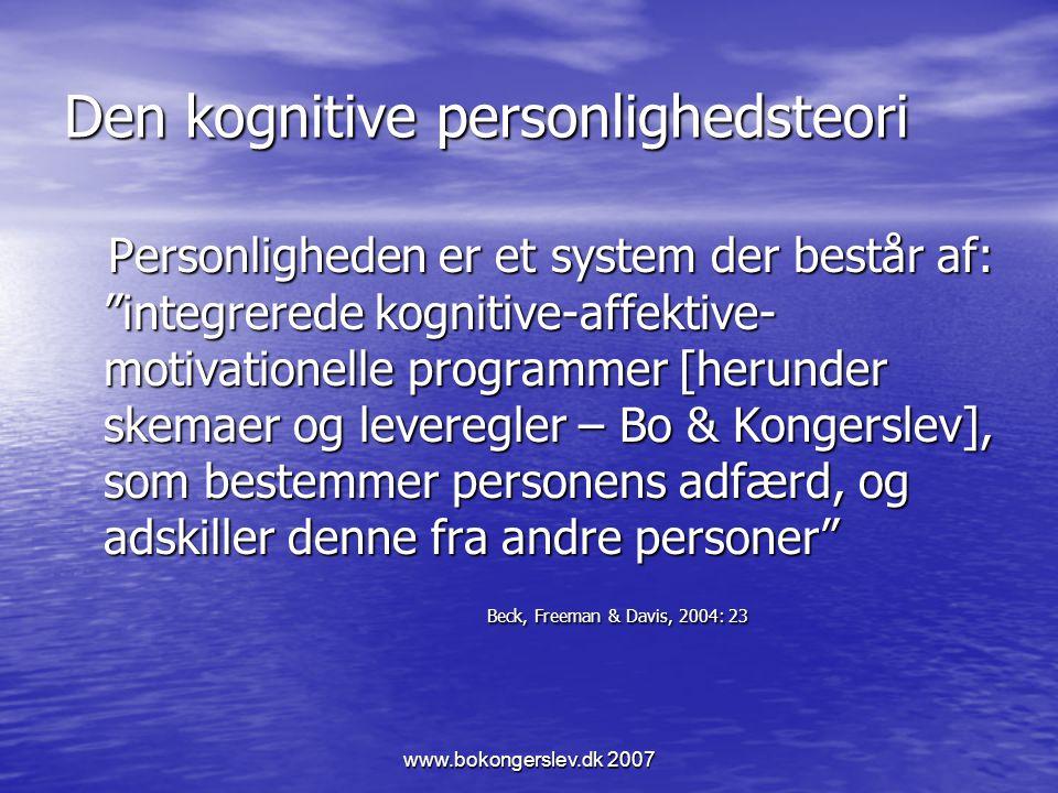 Den kognitive personlighedsteori
