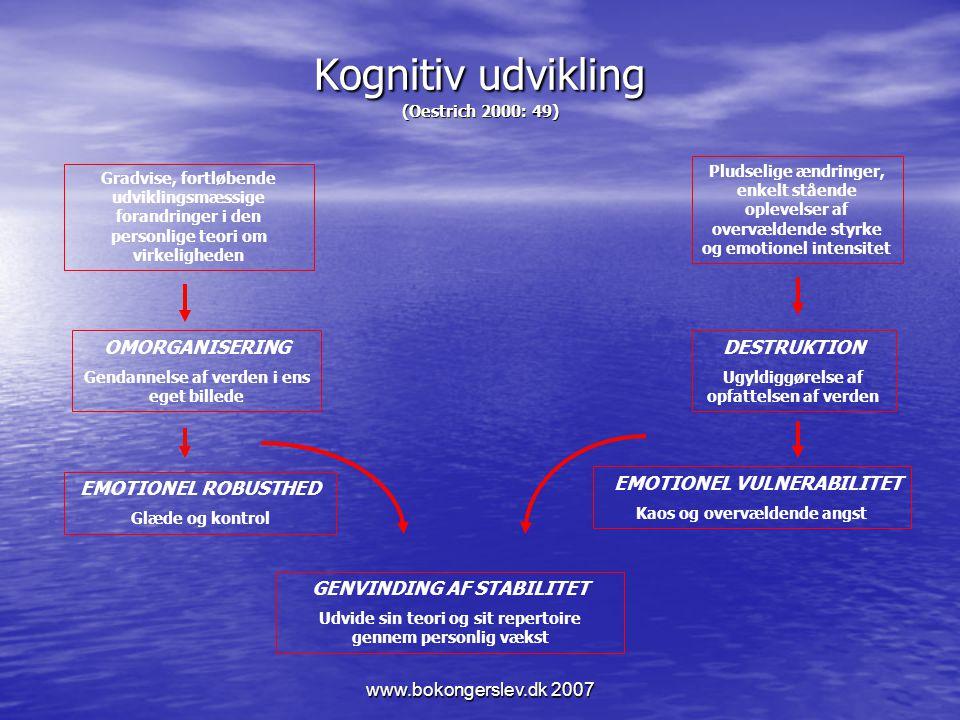 Kognitiv udvikling (Oestrich 2000: 49)
