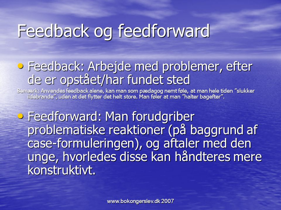 Feedback og feedforward