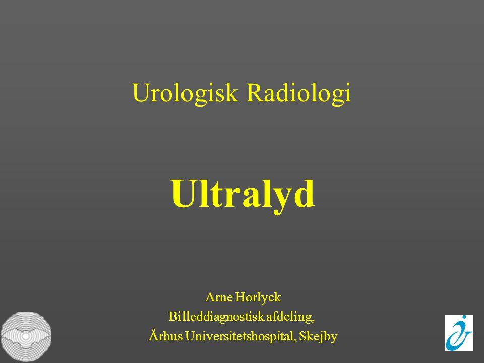 Ultralyd Urologisk Radiologi Arne Hørlyck Billeddiagnostisk afdeling,