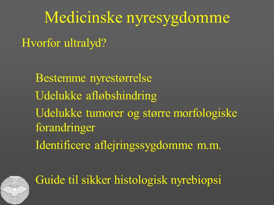 Medicinske nyresygdomme