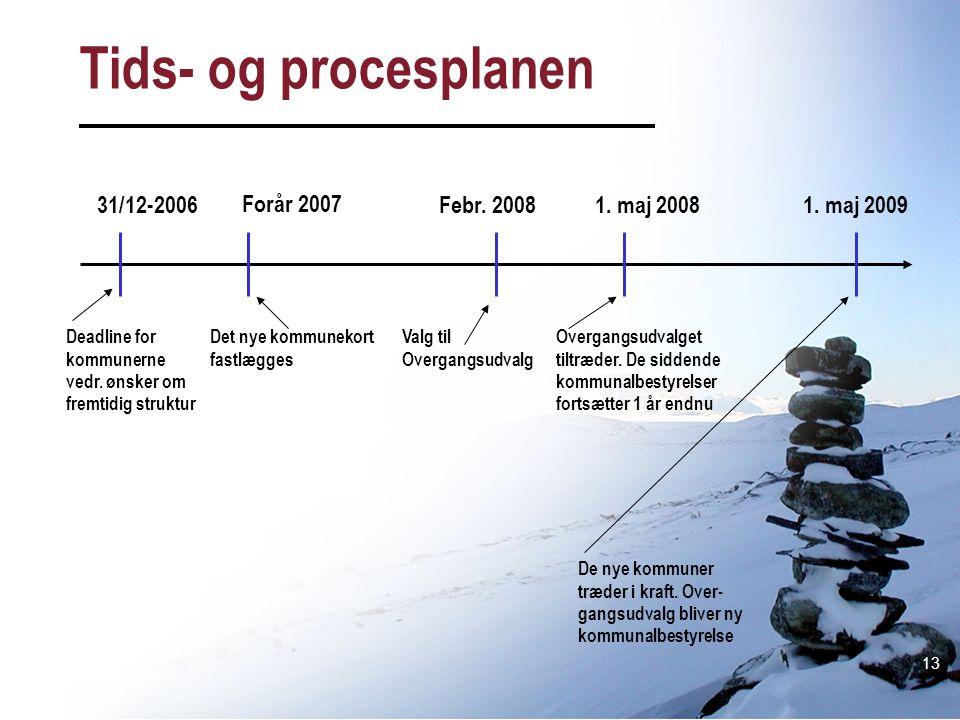 Tids- og procesplanen 31/12-2006 Forår 2007 Febr. 2008 1. maj 2008