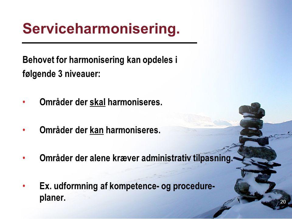 Serviceharmonisering.