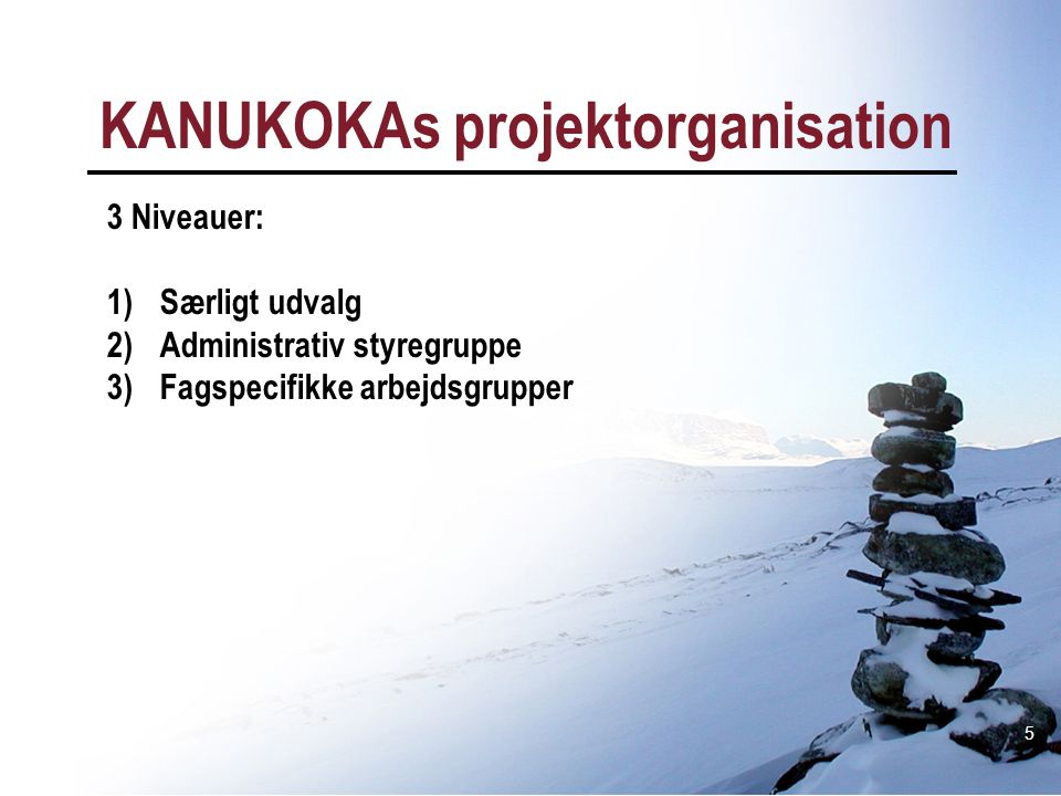 KANUKOKAs projektorganisation