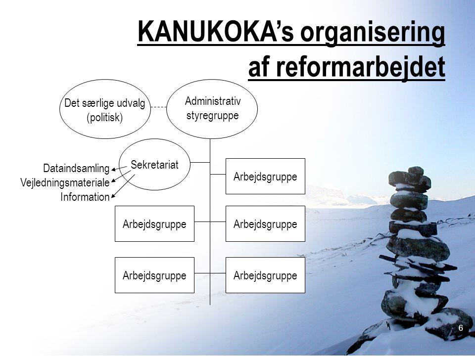 KANUKOKA's organisering af reformarbejdet