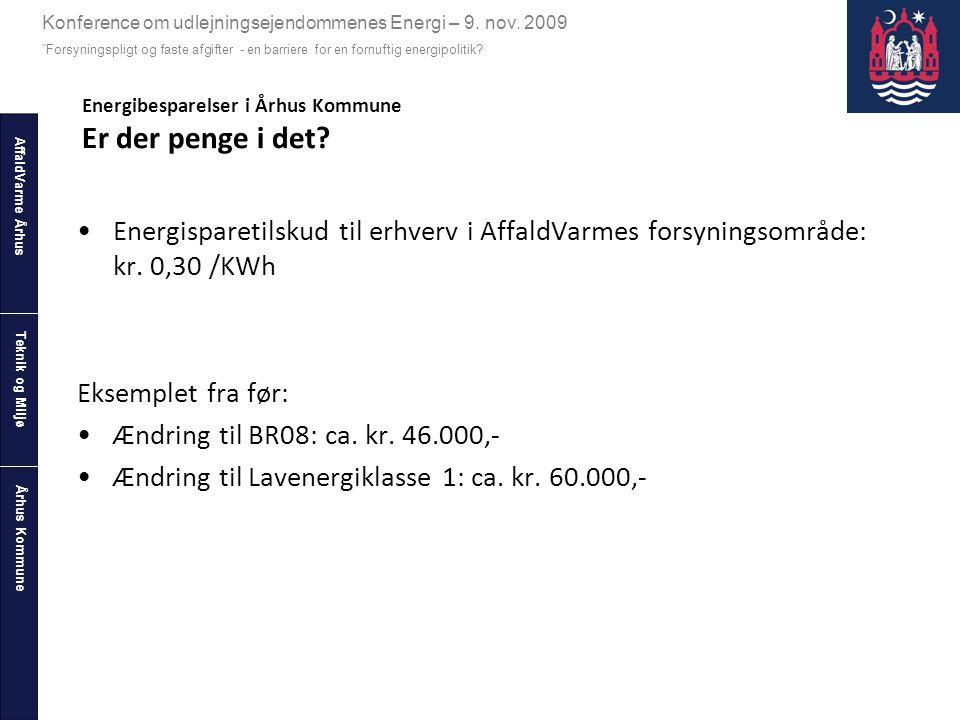 Energibesparelser i Århus Kommune Er der penge i det
