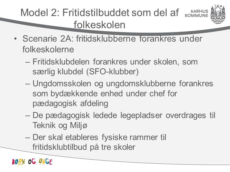 Model 2: Fritidstilbuddet som del af folkeskolen