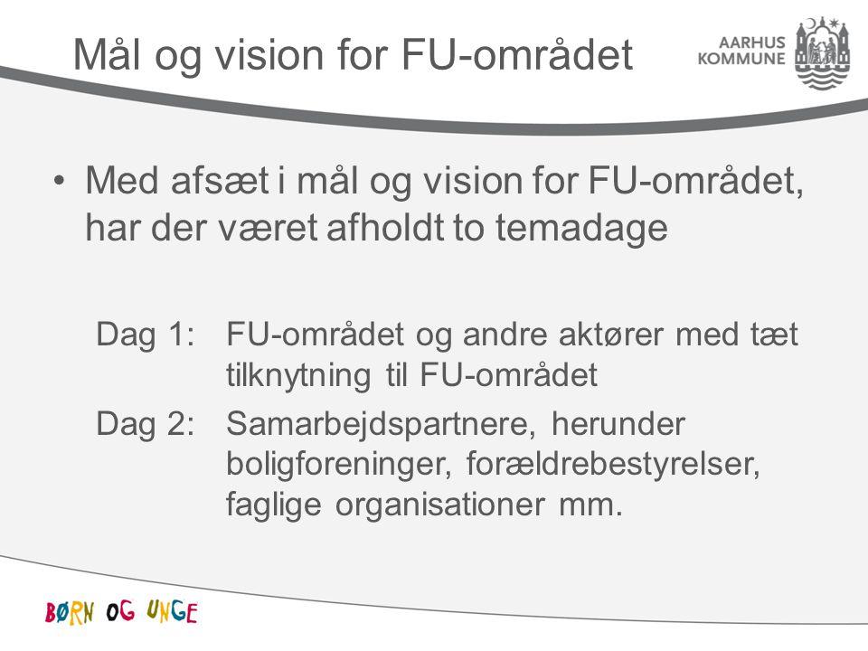 Mål og vision for FU-området