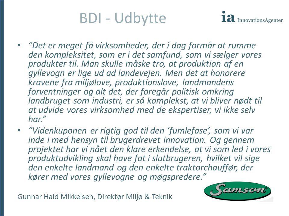 BDI - Udbytte