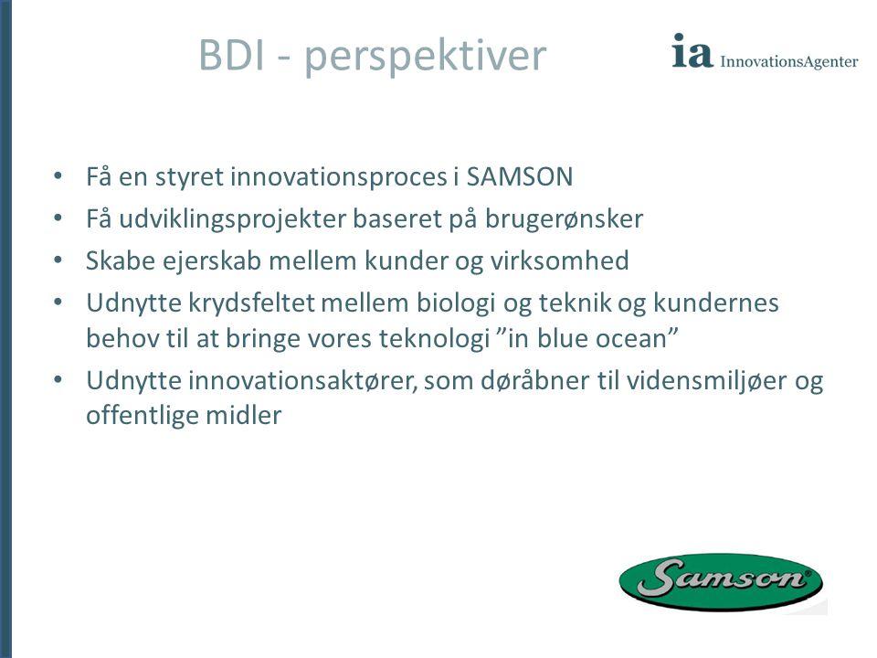 BDI - perspektiver Få en styret innovationsproces i SAMSON