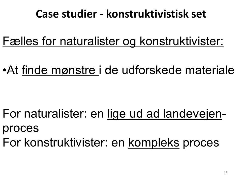 Case studier - konstruktivistisk set