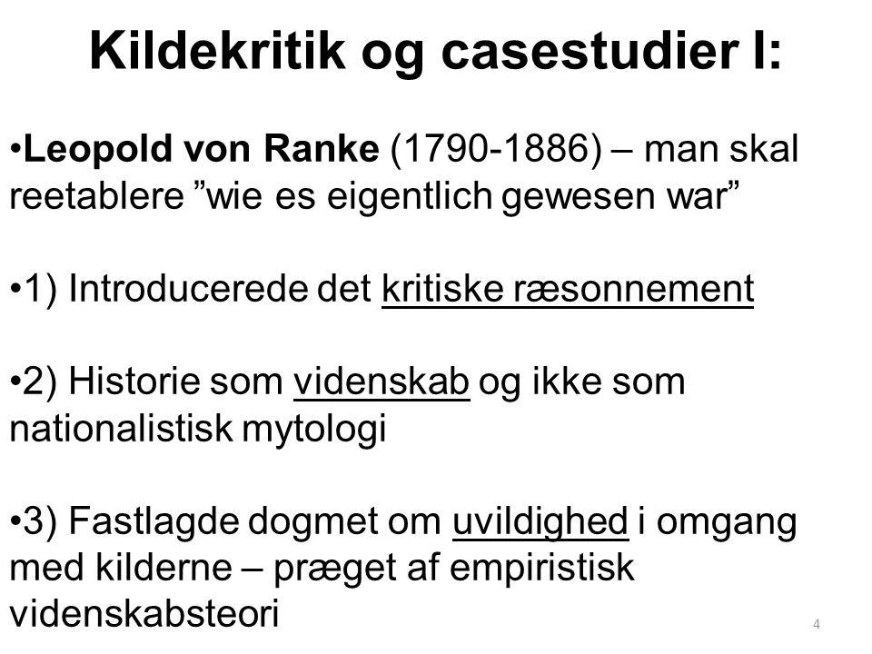 Kildekritik og casestudier I: