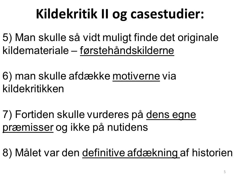 Kildekritik II og casestudier: