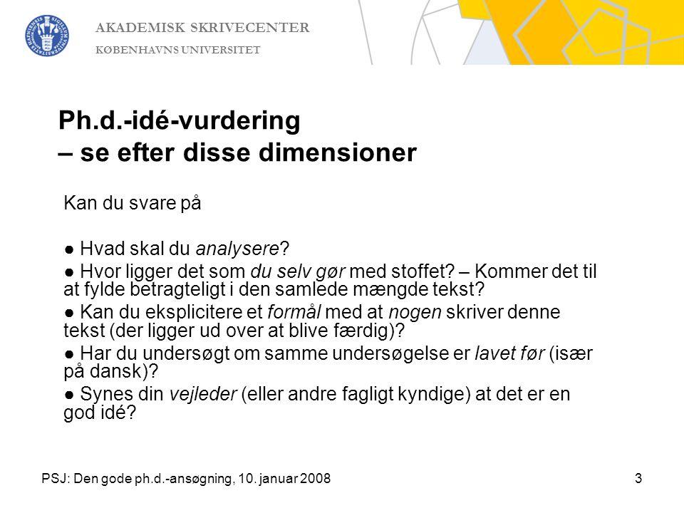 Ph.d.-idé-vurdering – se efter disse dimensioner