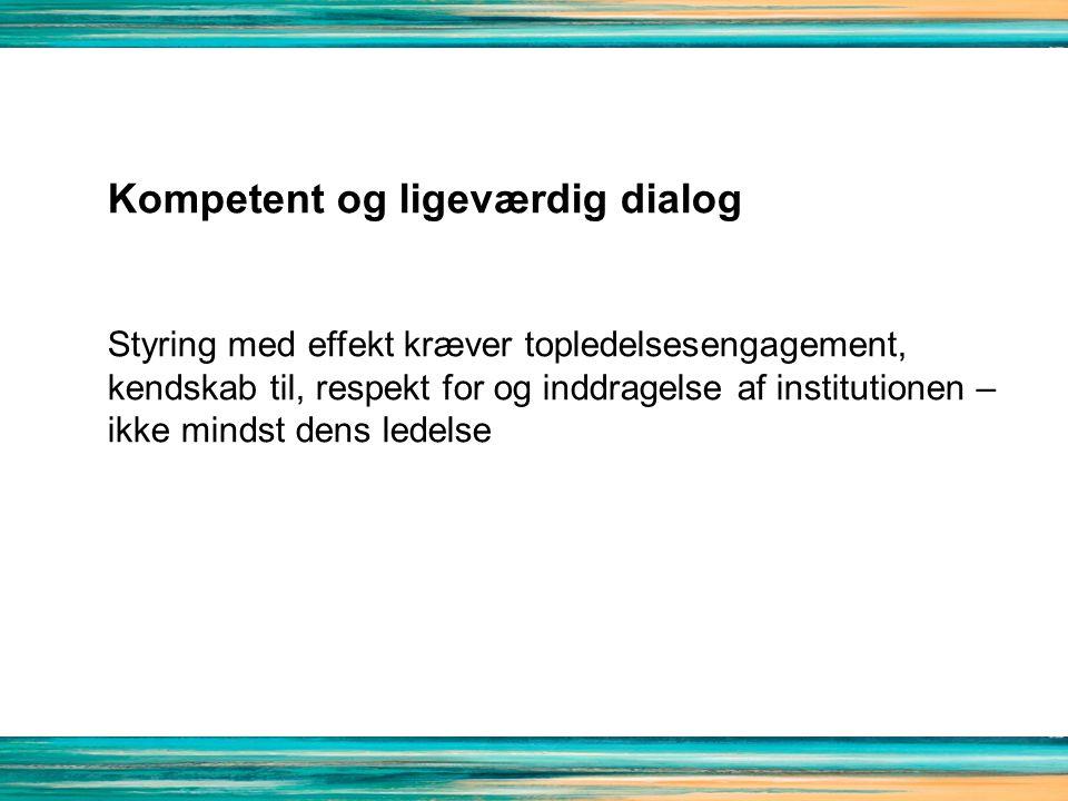 Kompetent og ligeværdig dialog