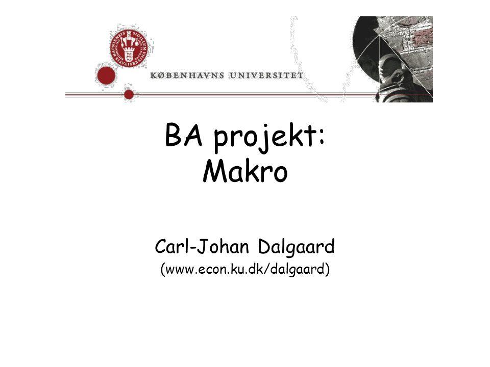 Carl-Johan Dalgaard (www.econ.ku.dk/dalgaard)