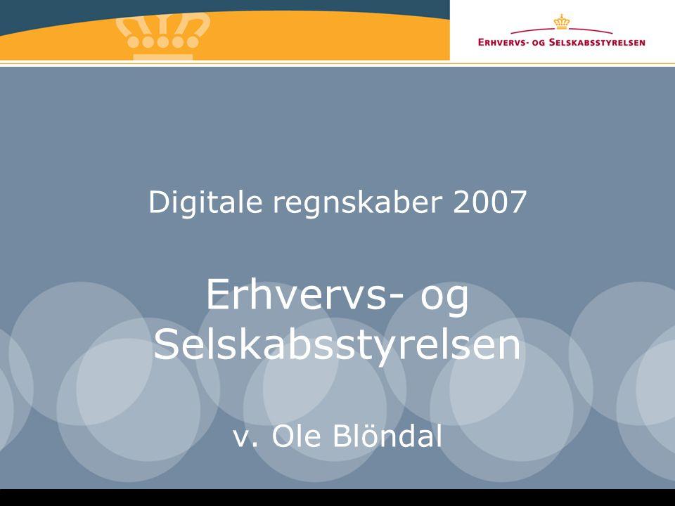 Digitale regnskaber 2007 Erhvervs- og Selskabsstyrelsen v. Ole Blöndal