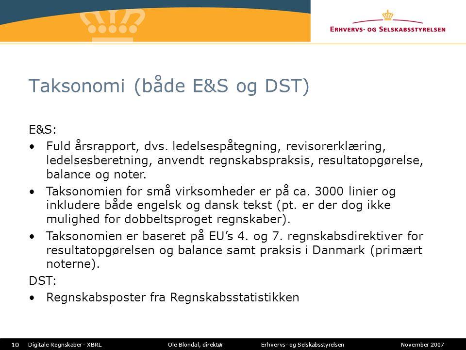 Taksonomi (både E&S og DST)