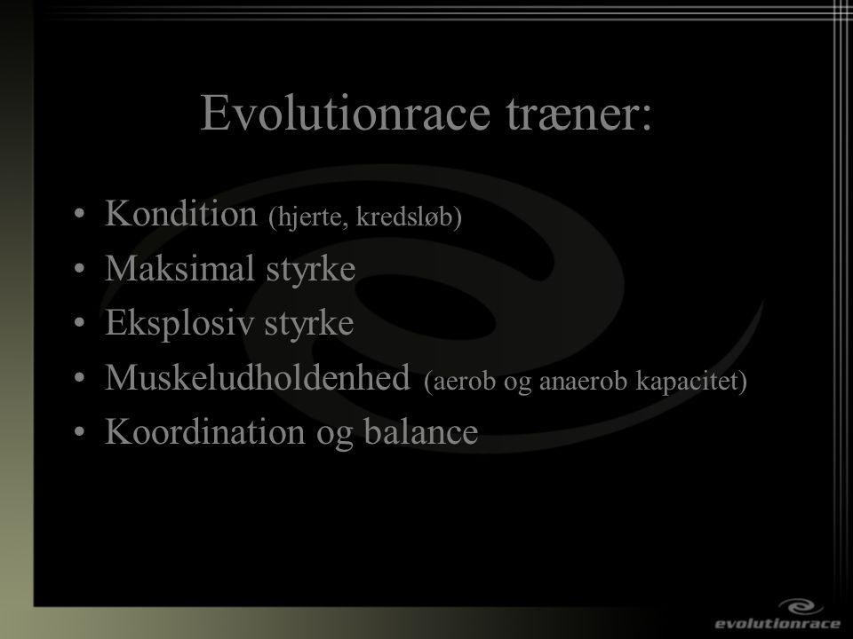 Evolutionrace træner: