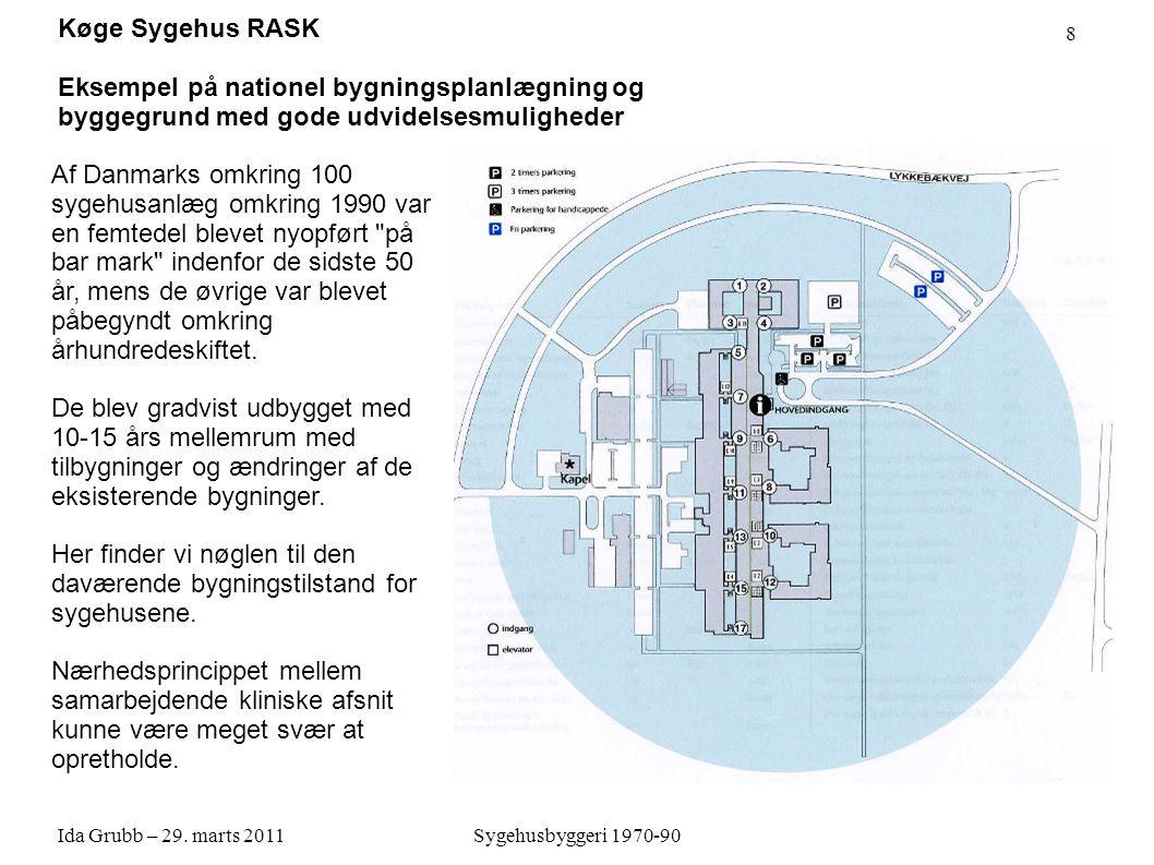 Køge Sygehus RASK Eksempel på nationel bygningsplanlægning og byggegrund med gode udvidelsesmuligheder