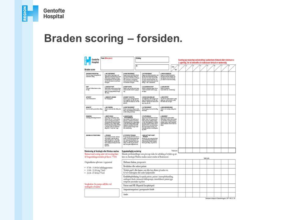Braden scoring – forsiden.