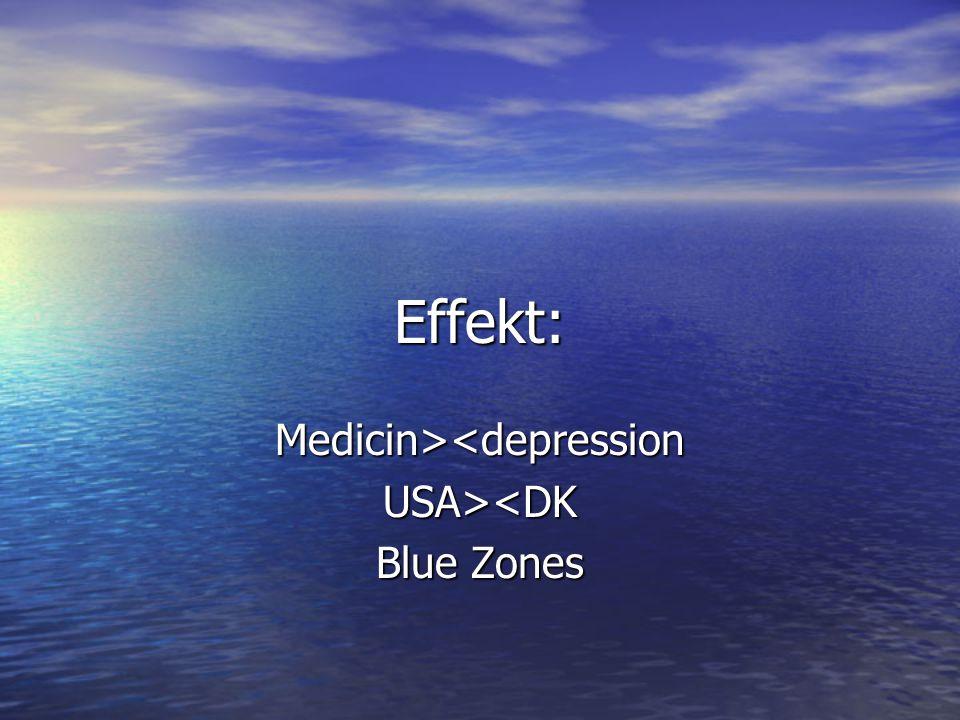 Medicin><depression USA><DK Blue Zones