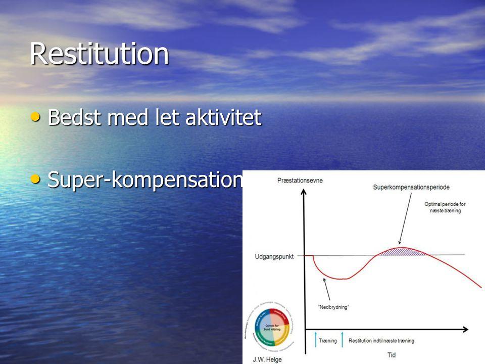 Restitution Bedst med let aktivitet Super-kompensation