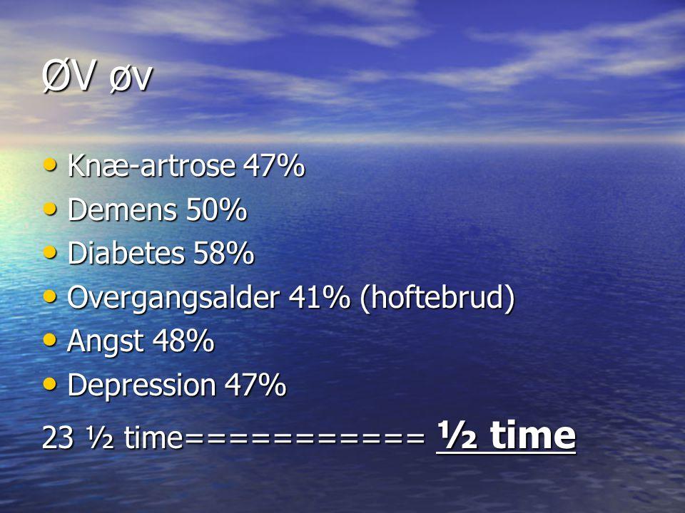 ØV øv Knæ-artrose 47% Demens 50% Diabetes 58%