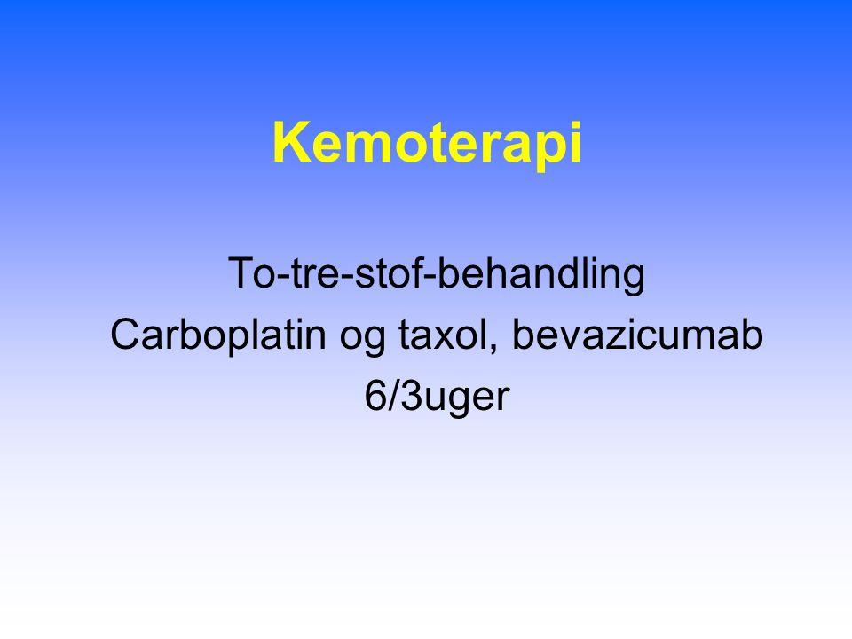 Kemoterapi To-tre-stof-behandling Carboplatin og taxol, bevazicumab