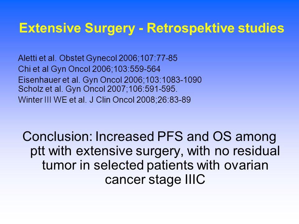 Extensive Surgery - Retrospektive studies