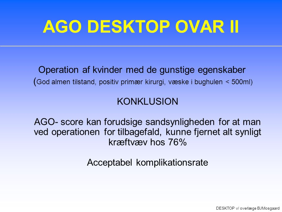 Acceptabel komplikationsrate