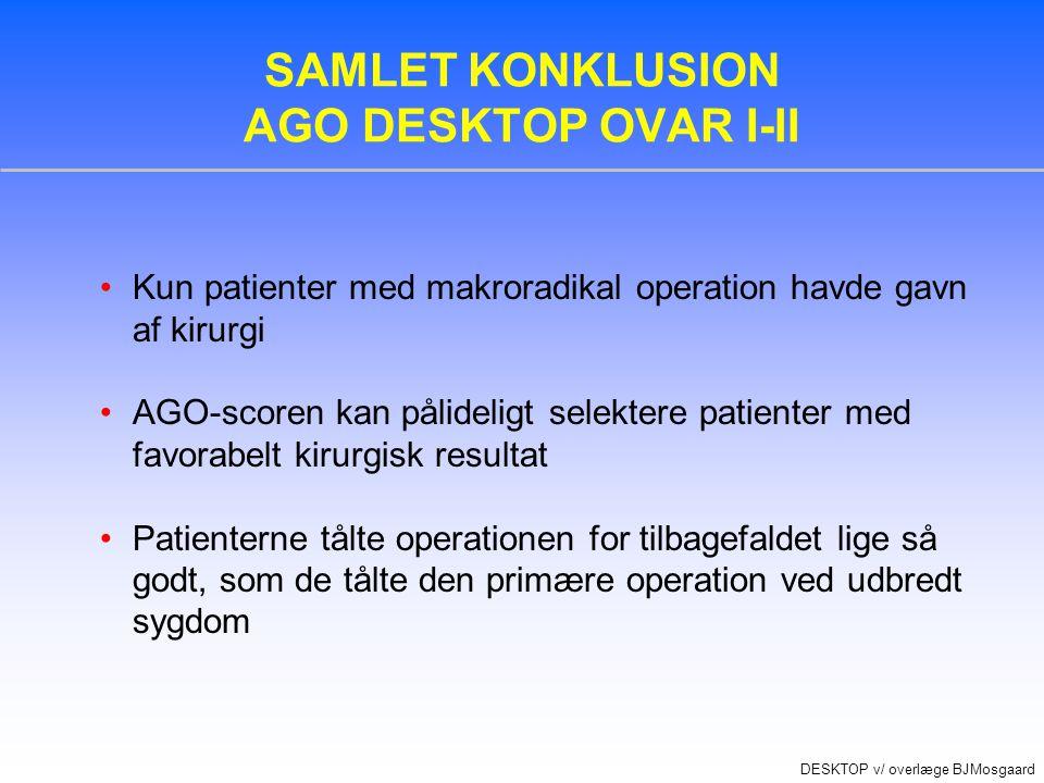 SAMLET KONKLUSION AGO DESKTOP OVAR I-II