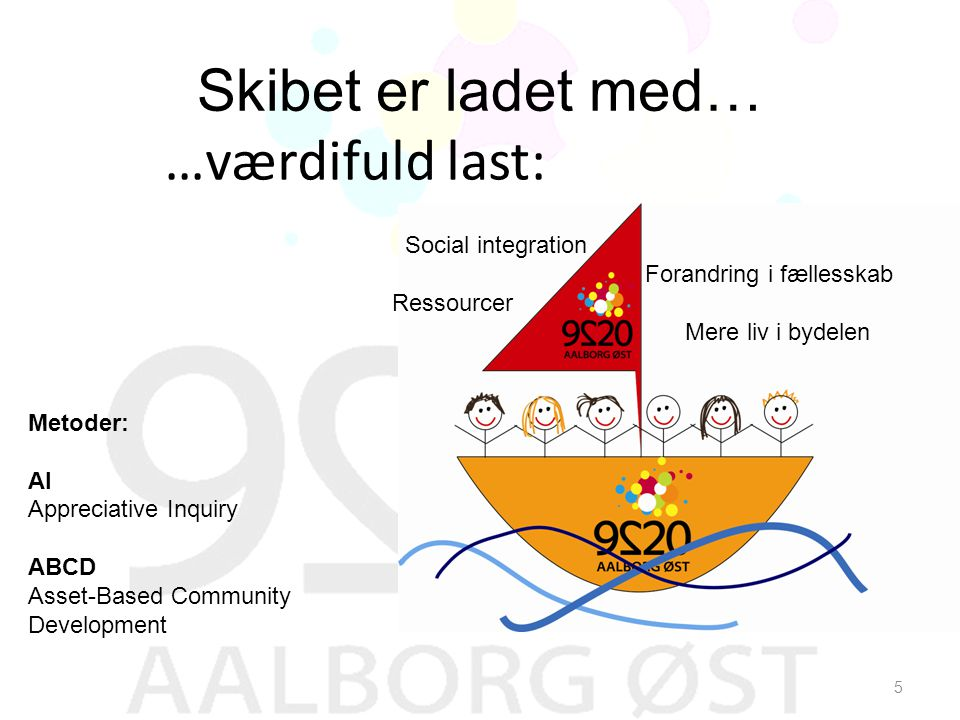 Skibet er ladet med… …værdifuld last: Social integration