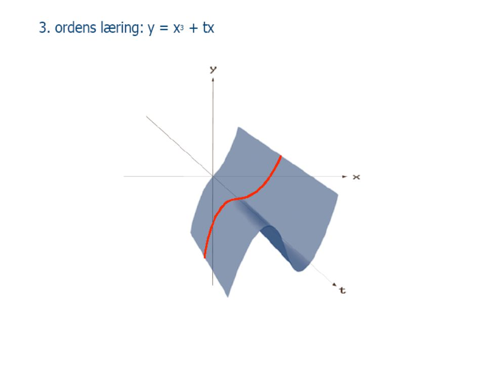 3. ordens læring: y = x3 + tx