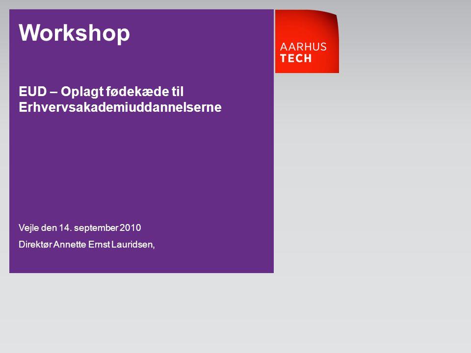 Workshop EUD – Oplagt fødekæde til Erhvervsakademiuddannelserne
