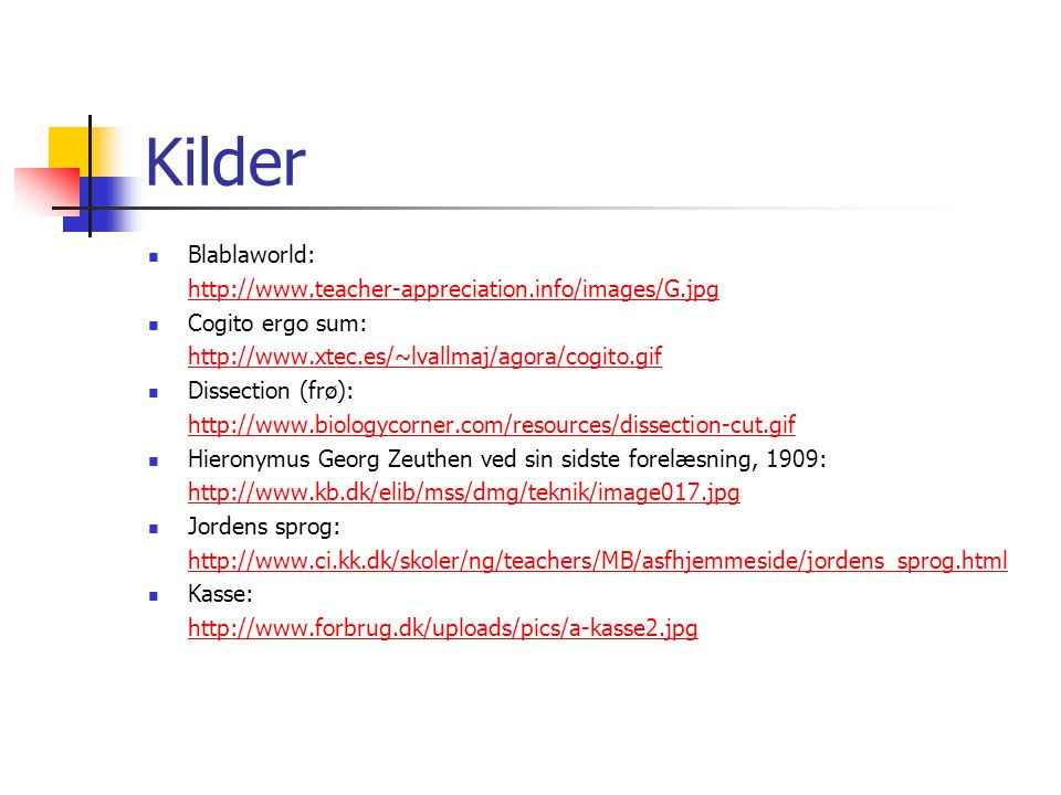 Kilder Blablaworld: http://www.teacher-appreciation.info/images/G.jpg