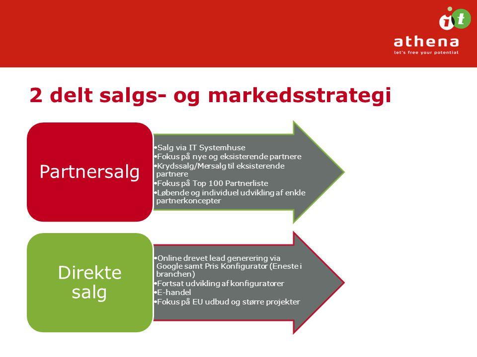 2 delt salgs- og markedsstrategi