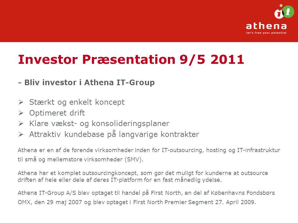 Investor Præsentation 9/5 2011