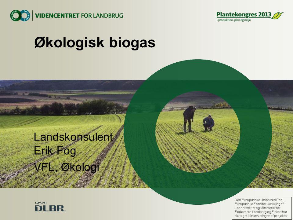 Økologisk biogas Landskonsulent Erik Fog VFL, Økologi
