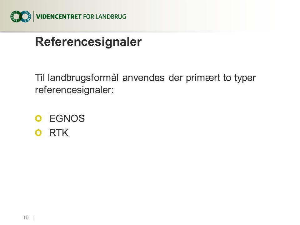 4. april 2017 Referencesignaler. Til landbrugsformål anvendes der primært to typer referencesignaler:
