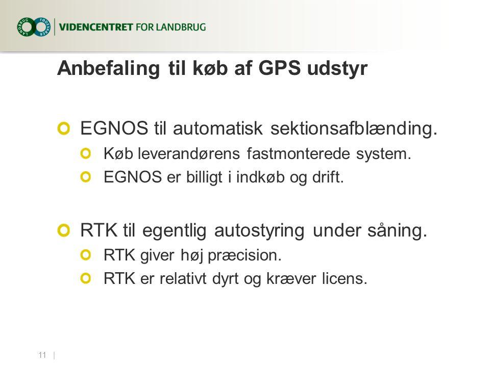 Anbefaling til køb af GPS udstyr
