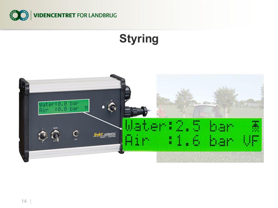 4. april 2017 Styring. Specielt ved anvendelse af N-sensor, hvor væskemængden reguleres løbende, må systemet være optimal.