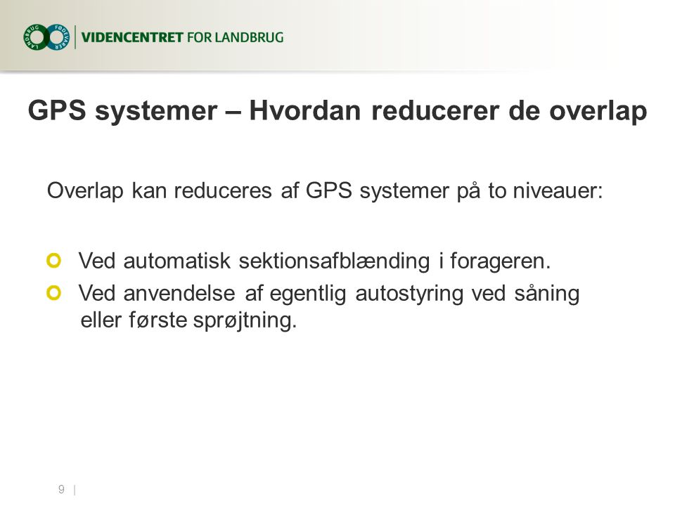 GPS systemer – Hvordan reducerer de overlap