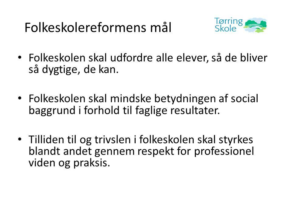 Folkeskolereformens mål